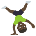 Person Cartwheeling: Dark Skin Tone on EmojiOne 3.1
