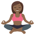 Person in Lotus Position: Medium-Dark Skin Tone on EmojiOne 3.1
