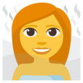 Person in Steamy Room on EmojiOne 3.1