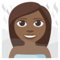 Person in Steamy Room: Medium-Dark Skin Tone on EmojiOne 3.1