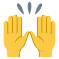 Raising Hands on EmojiOne 3.1