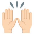 Raising Hands: Light Skin Tone on EmojiOne 3.1