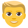 Blond-Haired Person on EmojiOne 3.1