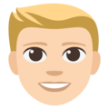 Blond-Haired Person: Light Skin Tone on EmojiOne 3.1
