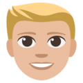 Blond-Haired Person: Medium-Light Skin Tone on EmojiOne 3.1