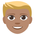 Blond-Haired Person: Medium Skin Tone on EmojiOne 3.1