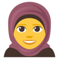 Woman With Headscarf on EmojiOne 3.1