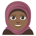 Person With Headscarf: Medium-Dark Skin Tone on EmojiOne 3.1