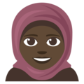 Person With Headscarf: Dark Skin Tone on EmojiOne 3.1