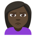 Person Pouting: Dark Skin Tone on EmojiOne 3.1