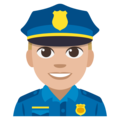 Police Officer: Medium-Light Skin Tone on EmojiOne 3.1