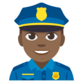 Police Officer: Medium-Dark Skin Tone on EmojiOne 3.1