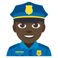 Police Officer: Dark Skin Tone on EmojiOne 3.1