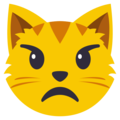 Pouting Cat Face on EmojiOne 3.1