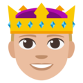 Prince: Medium-Light Skin Tone on EmojiOne 3.1
