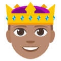 Prince: Medium Skin Tone on EmojiOne 3.1