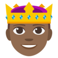 Prince: Medium-Dark Skin Tone on EmojiOne 3.1