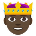 Prince: Dark Skin Tone on EmojiOne 3.1
