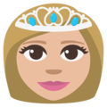 Princess: Medium-Light Skin Tone on EmojiOne 3.1