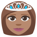 Princess: Medium Skin Tone on EmojiOne 3.1