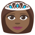 Princess: Medium-Dark Skin Tone on EmojiOne 3.1