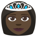 Princess: Dark Skin Tone on EmojiOne 3.1
