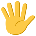 Hand With Fingers Splayed on EmojiOne 3.1