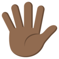 Hand With Fingers Splayed: Medium-Dark Skin Tone on EmojiOne 3.1