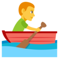 Person Rowing Boat on EmojiOne 3.1