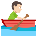 Person Rowing Boat: Light Skin Tone on EmojiOne 3.1