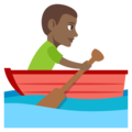 Person Rowing Boat: Medium-Dark Skin Tone on EmojiOne 3.1