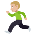 Person Running: Medium-Light Skin Tone on EmojiOne 3.1