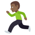 Person Running: Medium-Dark Skin Tone on EmojiOne 3.1