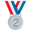 2nd Place Medal on EmojiOne 3.1