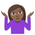 Person Shrugging: Medium-Dark Skin Tone on EmojiOne 3.1