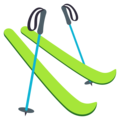 Skis on EmojiOne 3.1