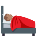 Person in Bed: Medium Skin Tone on EmojiOne 3.1