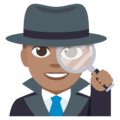 Detective: Medium Skin Tone on EmojiOne 3.1