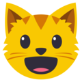 Smiling Cat Face With Open Mouth on EmojiOne 3.1