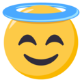 Smiling Face With Halo on EmojiOne 3.1