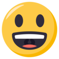 Grinning Face With Big Eyes on EmojiOne 3.1
