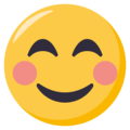 Smiling Face With Smiling Eyes on EmojiOne 3.1