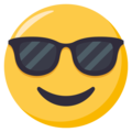 Smiling Face With Sunglasses on EmojiOne 3.1
