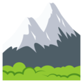 Snow-Capped Mountain on EmojiOne 3.1