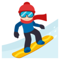 Snowboarder: Light Skin Tone on EmojiOne 3.1