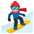 Snowboarder: Medium-Light Skin Tone on EmojiOne 3.1