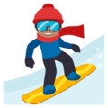 Snowboarder: Medium Skin Tone on EmojiOne 3.1