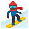 Snowboarder: Dark Skin Tone on EmojiOne 3.1
