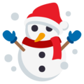Snowman on EmojiOne 3.1