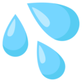 Sweat Droplets on EmojiOne 3.1